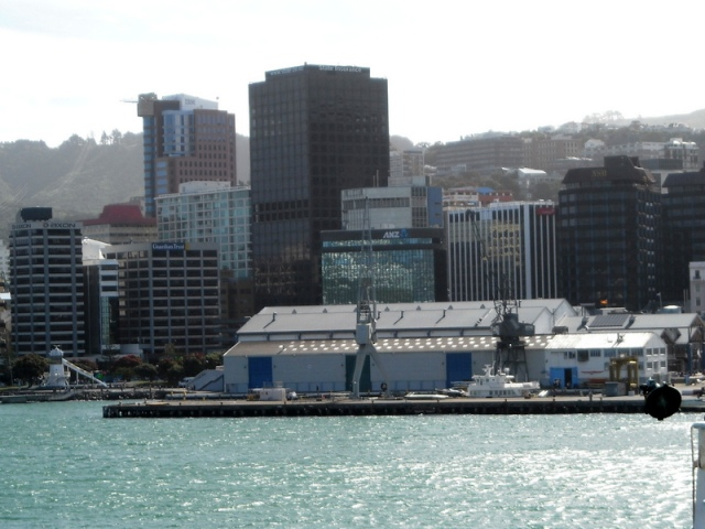 Downtown Wellington: if it's not on a major fault it's on seabed raised in the 1855 Wairarapa Earthquake